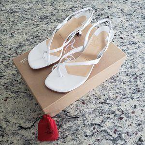 NEW Christian Louboutin Taralita White Sandals